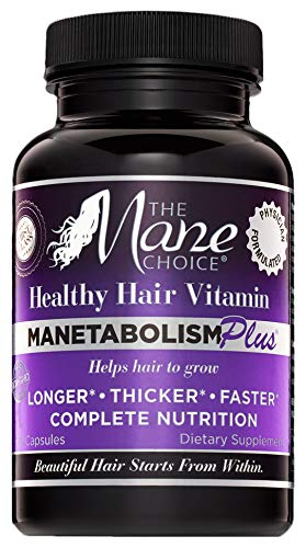 THE MANE CHOICE MANETABOLISM Plus Healthy Hair Growth Vitamins -...