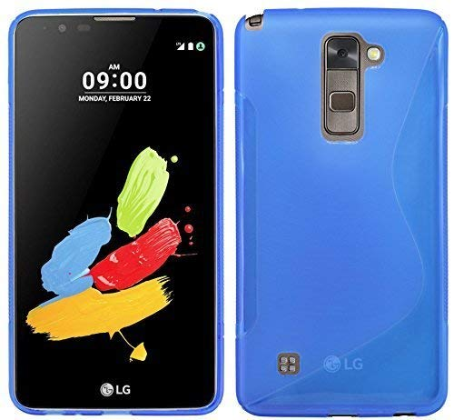 ENERGMiX S-Line TPU SchutzHülle kompatibel mit LG Stylus 2 (K520) Silikon Bumper Hülle Schale Tasche Cover in Blau