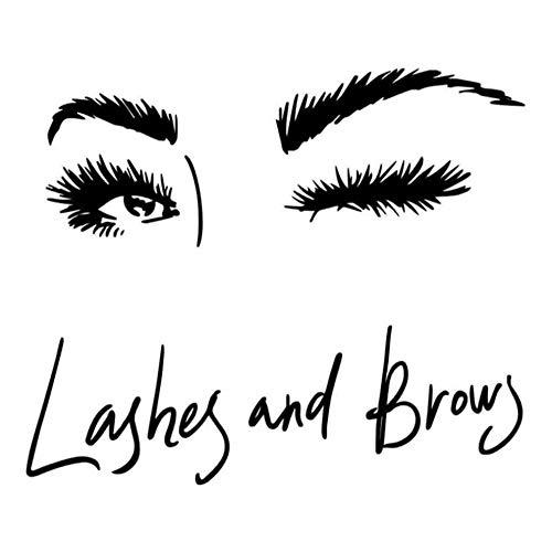 Vvff Lash Brows Eyes Pegatinas De Pared Pestañas Calcomanías De Pared Para Niñas Dormitorio Cejas Tienda Salón De Belleza Decoración Tamaño 40 × 60 Cm