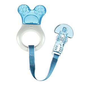 EASY TO HOLD - Lightweight design and curved ring makes it easy for babies to hold and use by themselves. The variety of textures on this teething toy work to stimulate baby's sense of touch and foster coordination skills to stimulate sensory develop...