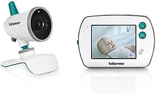 Babymoov YOO Feel Vigilabebé con Cámara - Pantalla LCD Táctil de 3.5 - Visión Nocturna - Lamparita y Nanas - Alcance 250 m - Seguridad Bebe
