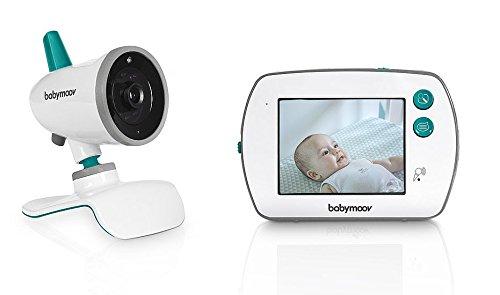Babymoov YOO-Feel Video-Babyphone, 3,5 Zoll Touchscreen-Empfänger, Nachtsicht, 2-fach Zoom, Gegensprechfunktion, VOX-Funktion