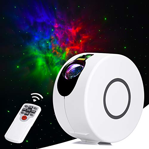 Newest Night Light with Nebula Cloud, Star Projector, Galaxy Projector for Room, Starlight Projector, 8 Lighting Effects, Suitable for Bedroom and Party Decoration, White