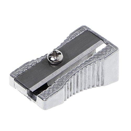 YOURPAI Bleistiftspitzer,Metall Anspitzer Einloch-Bleistiftspitzer Schule Büro Spitzer Schreibwaren Silber