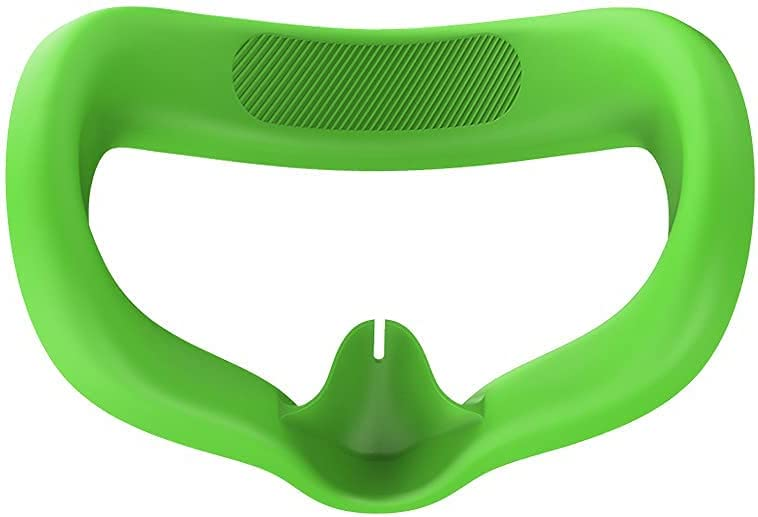 Ferbao VR Glasses Eye Pad for Oculus Quest 2 Silicone Cover Face Protect Skin Sweatproof Lightproof (Green)