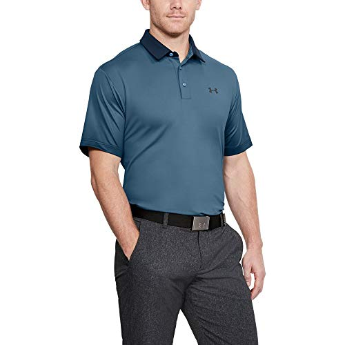 Polo Under Armour «UA Playoff » - Pour hommes Small Bass Blue/Rhino Gray