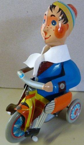 UN JEU DES JOUETS Garçon sur Son Tricycle Jouet mécanique de Collection rétro en métal Kovap