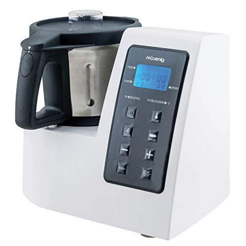 H.Koenig HKM1028 Robot de Cocina Funcion Caliente, 1300 W, 600 W, Acero...