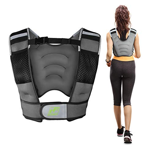 RitFit Adjustable Weighted Vest with Neoprene Fabric for Men&Women, 8lbs/10lbs/12lbs/15lbs/20lbs,...