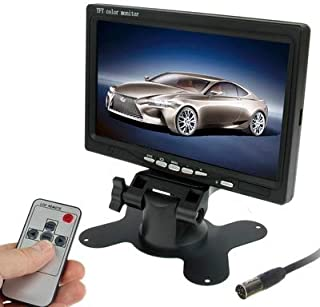 ZJJUN Electronics Video Audio 7.0 inch Car Monitor/Surveillance Cameras Monitor with Adjustable Angle Holder & Remote Cont...