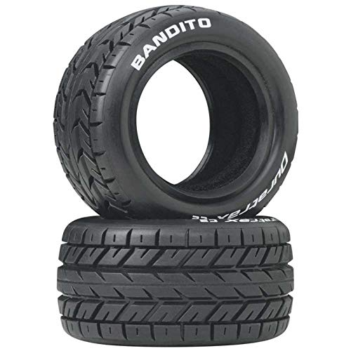 Duratrax Bandito 1:10 Scale RC 4WD Buggy Rear Tires with Foam Inserts, C2 Soft Compound, Unmounted (Set of 2)