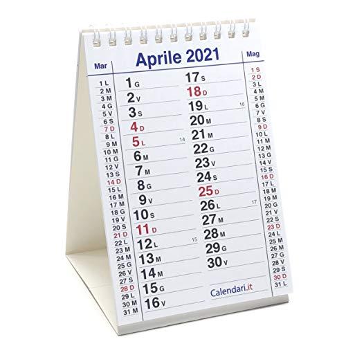 Calendario 2021 da tavolo scrivania misura 10X15 cm 14 Mesi e festività italiane. Ideale per piccoli appunti sulla scrivania in ufficio casa e lavoro