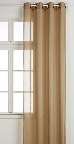 RIOMA Visillo Cortina, Tela, Beige-Marrón, 140 x 270 cm