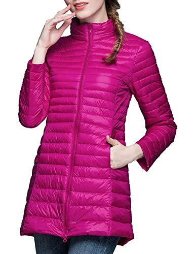 Damen Packable Ultra Light Weight Daunenmantel Short Outwear