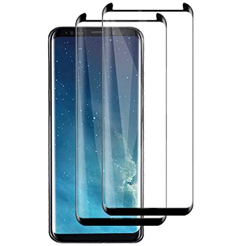 PUUDUU [2 Pack Protector de Pantalla para Samsung Galaxy S8, Sin Burbujas, Anti-Rasguños, HD Transparente,Cristal Templado Protector de Pantalla para Samsung Galaxy S8