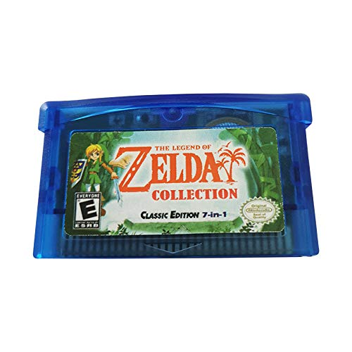 Zelda Collection Multicart Version 7-in-1 GBA - Third-Party Games Cards Cartridge Compatible with GBM/GBA/SP/NDS/NDSL