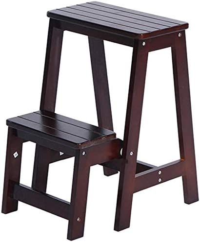 LYRR Wooden Step Stool 2-Step Foldable New life Ladder Foot Kitchen shopping