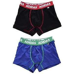 アディダス adidas 2P ボクサーパンツ 2枚組 キッズ ジュニア 男の子 前あき メッシュ AP93(Set、150)