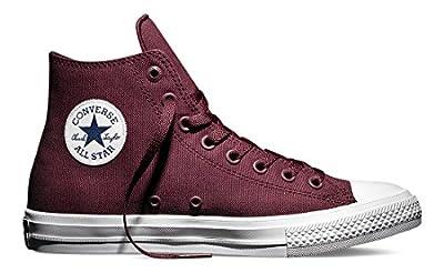 Converse Men's Ct Ii Hi Sneakers, Red (Deep Bordeaux/White/Navy), 4 UK