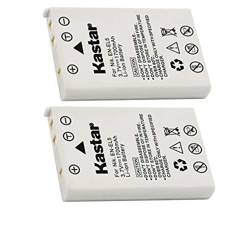 Kastar EN-EL5 - Batería recargable de iones de litio para Nikon Coolpix...