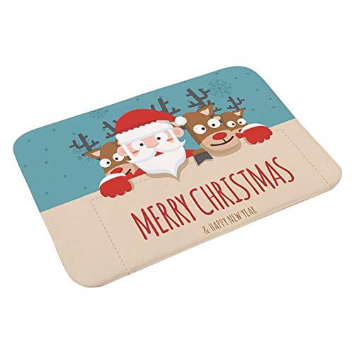 JUNGEN Alfombras de Decoración de Navidad Antideslizante y Absorbente Felpudo Suave y Cómodo Mat Alfombrillas para el Pasillo, el Salón, el Baño, la Cocina