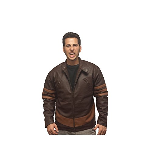 MyPartyShirt Wolverine Lederjacke X-Men Film Logan Kostüm Hugh Jackman Adult Mens (X-Large)