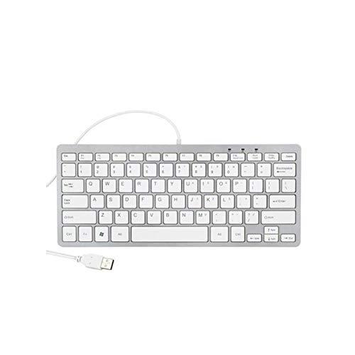 Lapcare LAP-56 Mini Slim Stylist Wired Multimedia Keyboard (White)