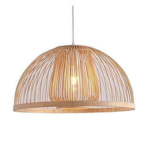 LLLKKK Lámpara de araña de bambú artificial, lámpara colgante simple de bambú restaurante iluminación de techo de bambú arte lámpara de iluminación interior – iluminación y ventiladores de techo