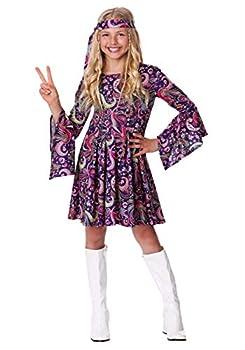 Girl s Woodstock Hippie Costume Medium