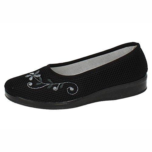 CHAPINES 366 Zapatilla DE Rejilla SEÑORA Zapatillas Negro 38