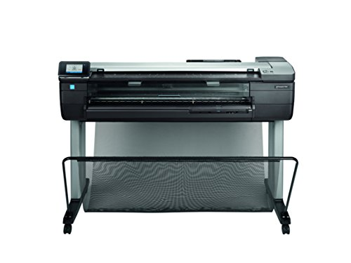 HP Designjet T830 24-in Farbe Tintenstrahl 2400 x 1200DPI WLAN - Großformatdrucker (2400 x 1200 DPI, HP-GL/2,HP-RTL,Tiff,URF, Schwarz, Cyan, Magenta, Gelb, 9,9 cm, Tintenstrahl, A1,A2,A3,A4)