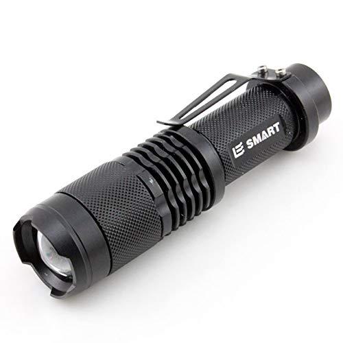 LAIABOR Supfire Linterna LED Tactica Luz De Aluminio Deslumbramiento Linterna LED Super Larga Distancia Tiro Largo 2 * 18650,Black