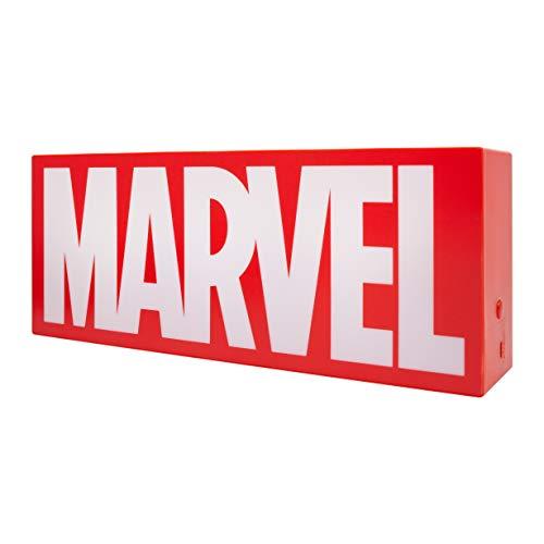 Marvel Logo Light – Phase On und Light Pulsing Modi – Offizielles Lizenzprodukt