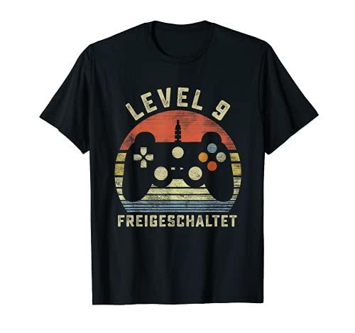 9 cumpleaños regalo – Level 9 videojuegos Camiseta