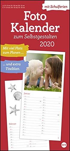 Fotokalender zum Selbstgestalten. Bastelkalender 2020. Monatskalendarium. Spiralbindung. Format 21 x 45 cm