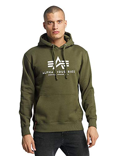 Alpha Industries Basic Hoodie Oliv XXL