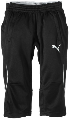 PUMA Kinder Hose 3/4 Training Pants, Black/White, 128