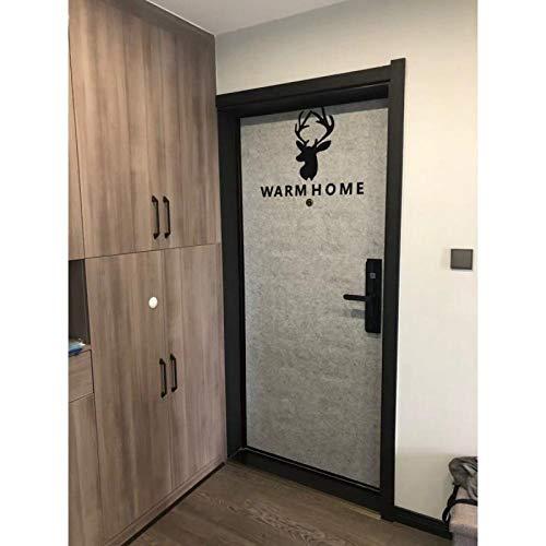 KONGRMB Nordic zelfklevende viltdeurstickers anti-diefstal deur ingang deur oude deur creatieve decoratie geluid isolatie materiaal decoratie