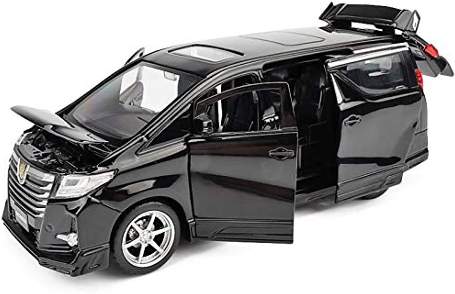 Generic Sound&Light Toyota Alphard MPV 1 1 1 32 Scale Alloy Pull Back car Toy,diecast Metal Model Toy Vehicle,Collection Model Black 7c0e95