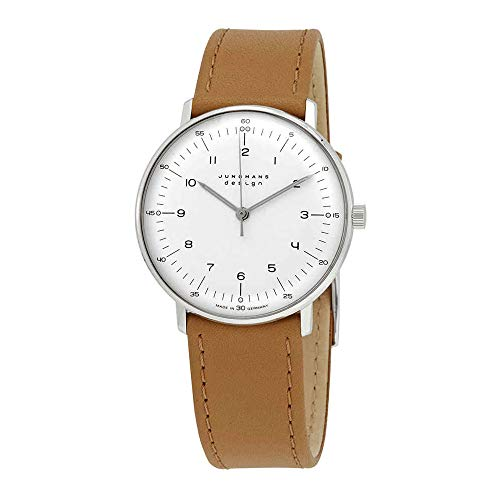 Junghans 027/3701.04 Damen-Uhr Max Bill Analog Mechanik Handaufzug Leder