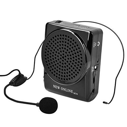 ポータブル拡声器 小型 iitrust ハンズフリー 20W イベント 講演 説明会 店頭販売などに対応 充電式 スピーカー マイクロホン ブラック