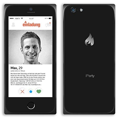 (10 x) Einladungskarten Geburtstag Smartphone Handy App lustig witzig Einladungen