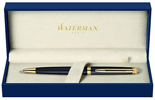 Waterman Hemisphere 2010: Matte Black GT Ballpoint, Gold Trims, Twist mechanism. by Waterman