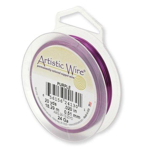 Artistic Wire Beadalon Fil de cuivre Calibre 26 27,43 m fil Violet