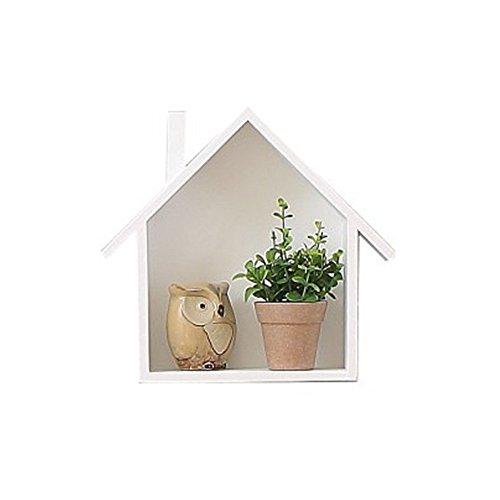 margueras 1pcs estante de pared de madera en forma de la pequeña maison-étagère pared casas de madera