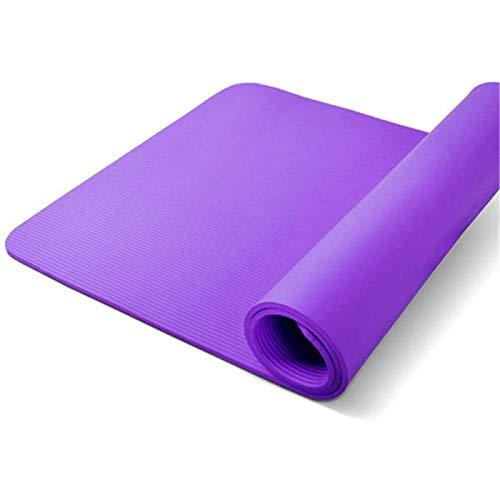 ZHANG Estera de Yoga para Ejercicio, Alfombrillas de Espuma Antideslizantes para Yoga, Almohadillas para Ejercicio, Gimnasio, Deporte, Alfombrilla Portátil Plegable,Purple