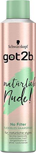 got2b Haarspray natürlich Nude! Naturtalent, 2er Pack (2 x 300 ml)