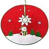 lwxsyusqduzhjo, Delantal de Falda de árbol de Navidad Redondo, Reno muñeco de Nieve Bordado decoración de Fiesta de Navidad, Falda de Alfombra