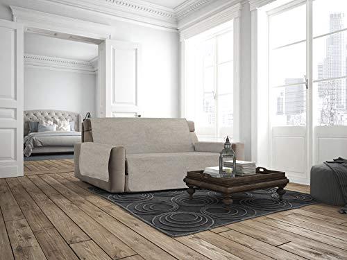 Italian Bed Linen Cubierta de sofá Anti-Deslizamiento Confort,4 Plazas, Beige