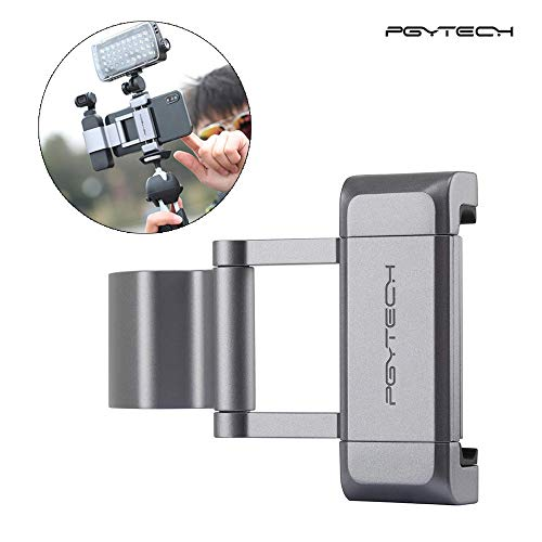 Pytech Flycoo opvouwbare mobiele telefoon houder voor DJI OSMO Pocket Camera Accessoires Cold Shoe 1/4 inch Thread externe houder microfoon & LED